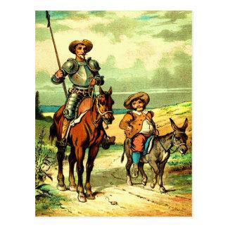 Don Quixote and Sancho Panza Post Cards