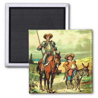 Don Quixote and Sancho Panza Refrigerator Magnet