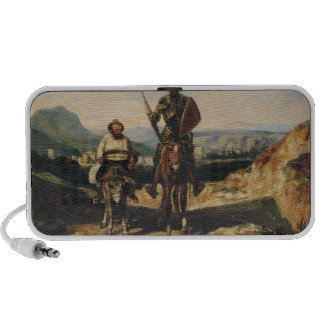 Don Quixote and Sancho Notebook Speakers