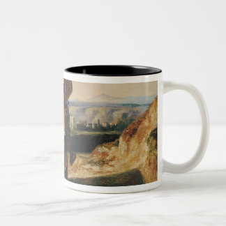 Don Quixote and Sancho Two-Tone Coffee Mug