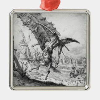 Don Quixote and the Windmills Christmas Ornament