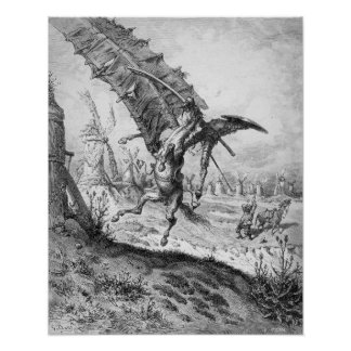 Don Quixote and the Windmills Poster