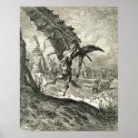 Don Quixote and the Windmills Print