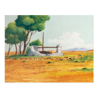 DON QUIXOTE ANIMATION BACKGROUND POSTCARD