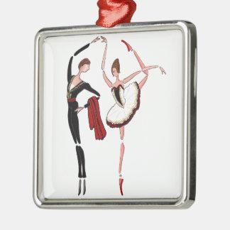 DON QUIXOTE BALLET DANCERS KITRI BALLERINA ORNAMEN Silver-Colored SQUARE DECORATION