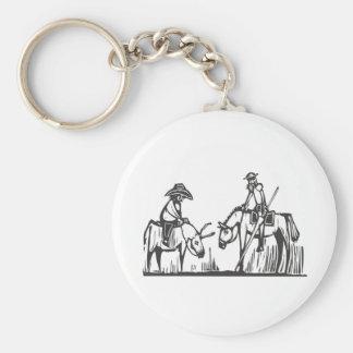 Don Quixote Basic Round Button Key Ring