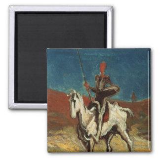 Don Quixote, c.1865-1870 Square Magnet
