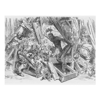 Don Quixote fighting the puppets Postcard