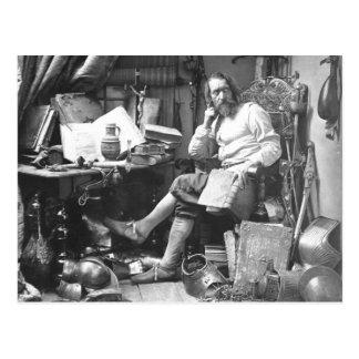 Don Quixote In his Study Postcard