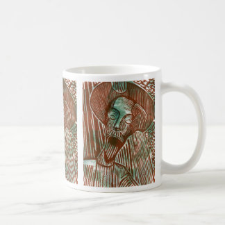 Don Quixote in Rust and Green Tiled Coffee Mug