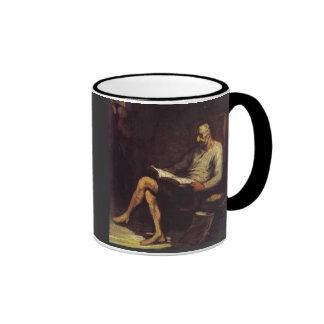 Don Quixote Reading Coffee Mug