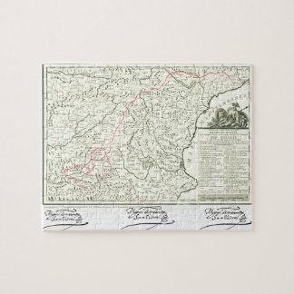 Don Quixote route Map - Cervantes signature Jigsaw Puzzle