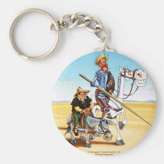 DON QUIXOTE & SANCHO KEYCHAIN- IVth. Centenary Key