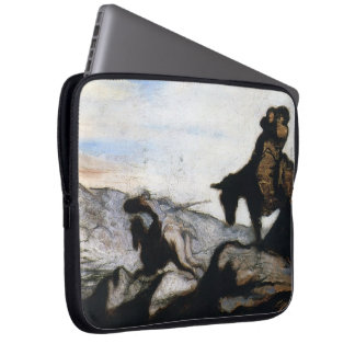 Don Quixote,Sancho Panza by Honore Daumier Laptop Computer Sleeves