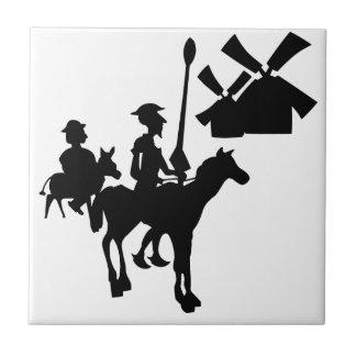 Don Quixote Small Square Tile