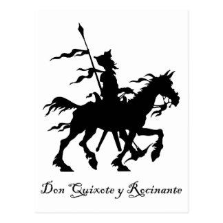 Don Quixote y Rocinante Postcard
