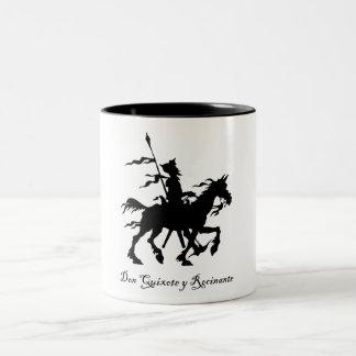 Don Quixote y Rocinante Two-Tone Coffee Mug