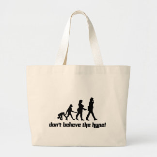 Don't believe the hype! 3 jumbo tote bag