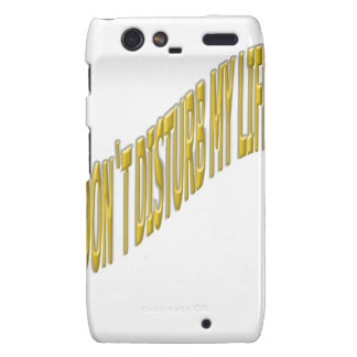 Don`t Disturb my life with coloring yellow Droid RAZR Case