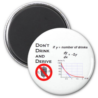 Don t Drink and Derive Fridge Magnet