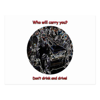 Don t drink and drive post cards