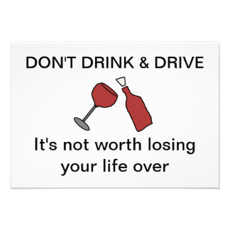 Don t drink drive Card Custom Invite