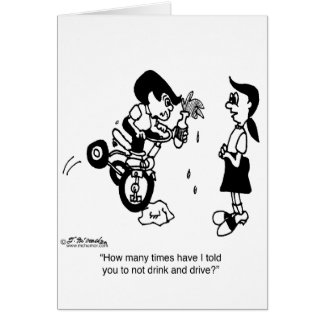 Don t Drink Drive on a Trike Greeting Card