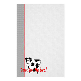 Don t Eat Me Bro Customized Stationery