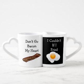Don t Go Bacon My Heart Funny V2 Lovers Mug Sets
