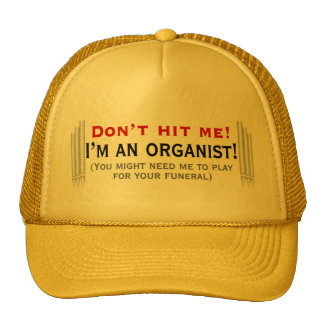 Don t hit me - I m an organist Mesh Hat