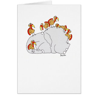 DON T LET THE TURKEYS GREETING CARDS