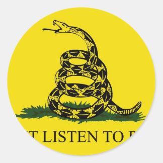 Don t Listen To Rush Round Sticker