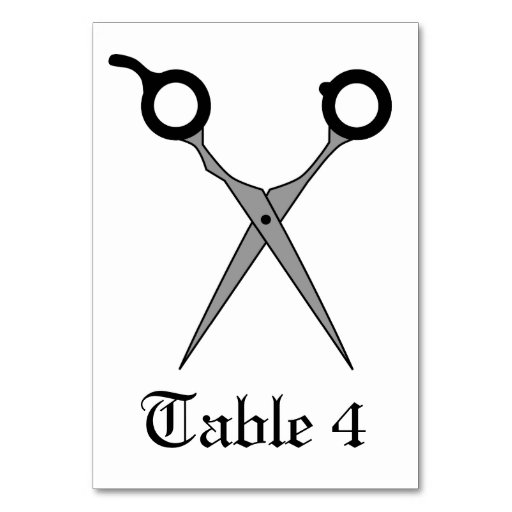 Don't Make Me Cut You -Black Hair Cutting Scissors Table Cards