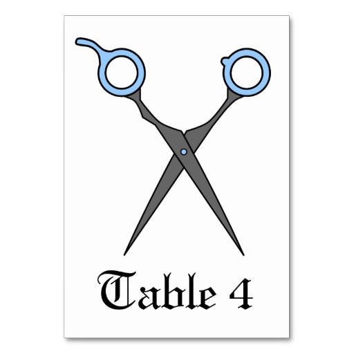 Don't Make Me Cut You -Blue Hair Cutting Scissors Table Cards