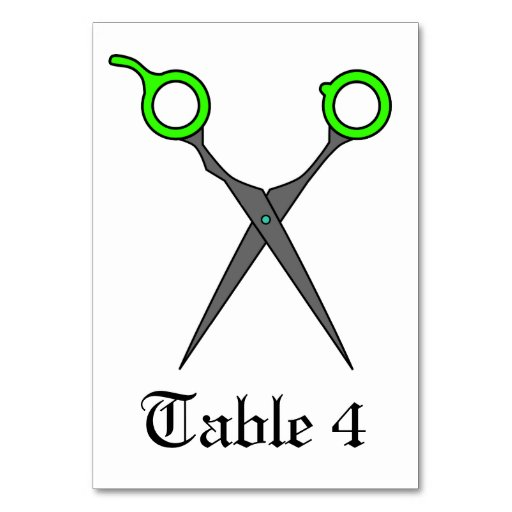 Don't Make Me Cut You -Green Hair Cutting Scissors Table Cards