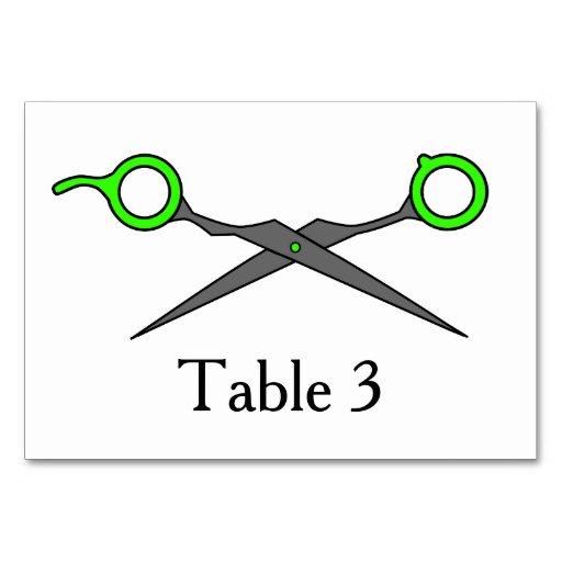 Don't Make Me Cut You -Green Hair Cutting Scissors Table Card