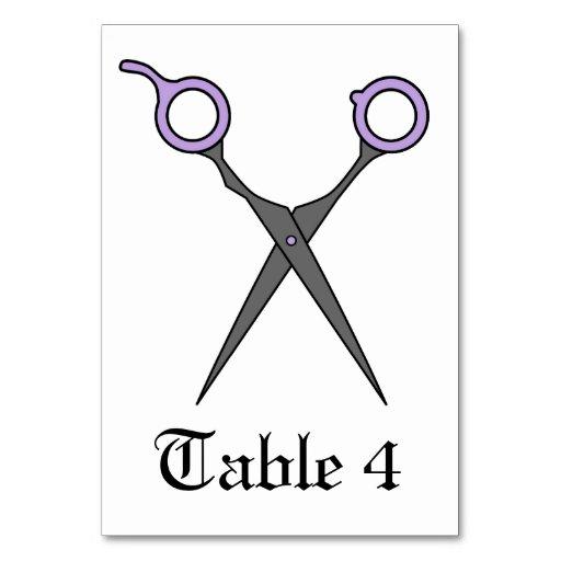 Don't Make Me Cut You -Purple Hair Scissors Table Card