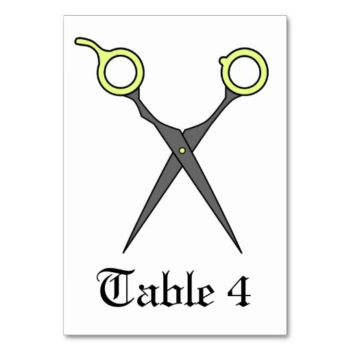 Don't Make Me Cut You -Yellow Hair Scissors Table Card