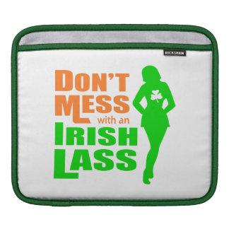 Don t Mess with an Irish Lass - Irish Humor iPad Sleeve