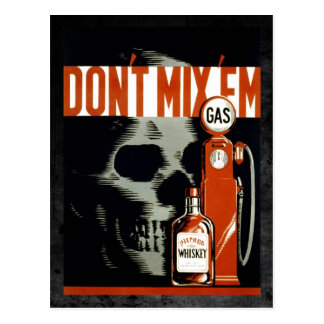 Don t Mix Em - Don t Drink and Drive Postcard