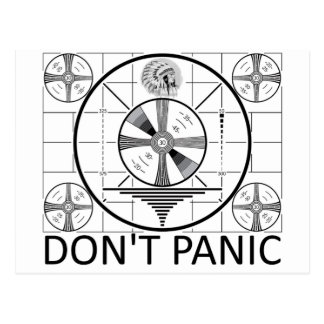 Don t Panic Indian Head Test Post Card