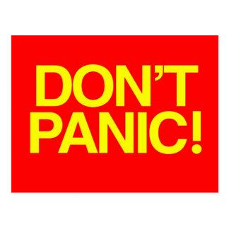 Don t Panic Post Card