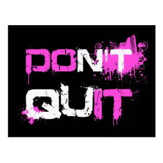 DON T QUIT - DO IT paint splattered urban quote qu Postcard