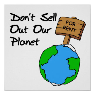 Don t sell out planet posters