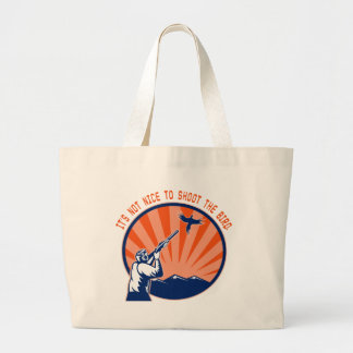 Don t shoot the bird tote bag