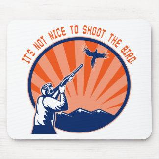 Don t shoot the bird mousepads