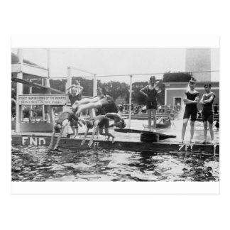 Don t SPIT in POOL 1920 s Boys Swimming Diving Postcards