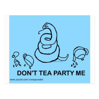 Don t Tea Party Me - blue Postcard