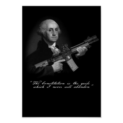 """Don't Tread on George"" Poster"