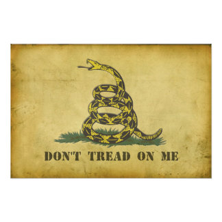 """Don't Tread On Me 24""""x16"""" Poster"""